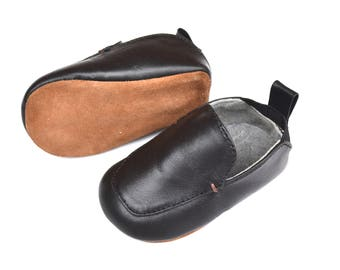 100% Leather baby loafers