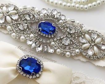 Wedding Garter, Garter, Bridal Garter, Ivory Garter, Garter Set, Something Blue, Ivory wedding garter, Lace Garter, Lace wedding garter