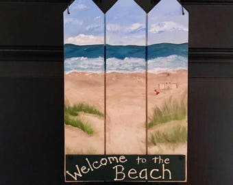 Beach  Welcome Sign, view B