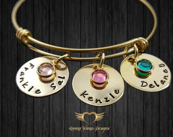Mothers Bracelet gift for mom grandma Gold bracelet mom bracelet Personalized Name Bracelet Mothers day gift birthstone jewelry gift for her
