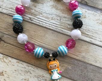 Alice Inspired Bubblegum Necklace