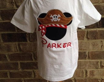 """READY TO SHIP!! 4t Pirate Mickey Shirt """"Parker"""""""