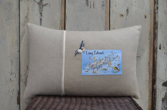 Long Island Postcard Pillow  (available in 3 styles and 2 prices)