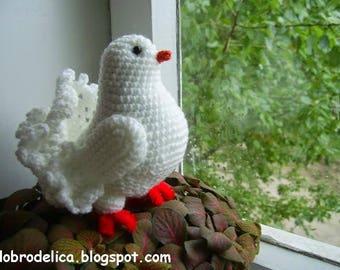 Translation of the White Dove amigurumi tutorial