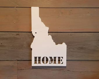 Home State Sign, State Wood Sign, Idaho Sign, Home State Decor, State Pride, Home Sweet Home, Idaho State, Gallery Wall, Idaho Art