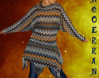 'Good vibes...' stretch knit tunic sweater