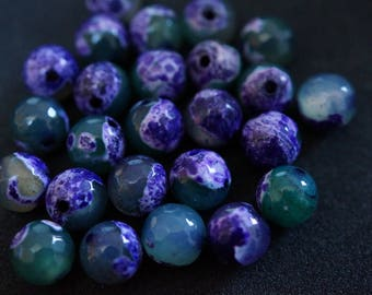 25 beads AGATE 8 mm H201