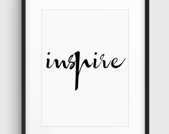 Inspirational Quote Poster, Typographic Poster, Lettering, Nice Font, Black & White Minimal Print Poster, Art, Home Art, Minimal Graphics,