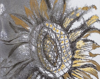 Abstract Sunflower Original by SAR
