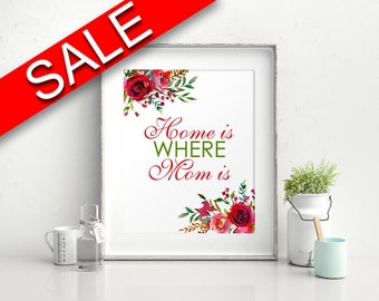 Wall Art Home Is Where Mom Is Digital Print Home Is Where Mom Is Poster Art Home Is Where Mom Is Wall Art Print Home Is Where Mom Is  Wall