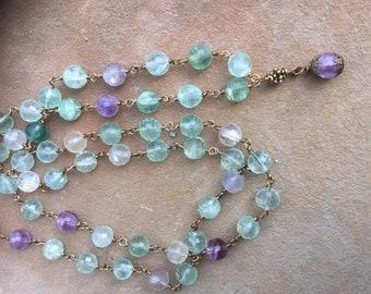 Fluorite Mala, balancing and grounding gemstone.