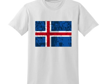 Russia World Cup 2018 Graphic Tshirt ICELAND Flag Football Team Soccer Country