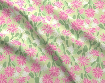 Southwestern Cactus Flower Fabric - Cactus Flower By Laura May Designs - Floral Cacti Cotton Fabric By The Yard With Spoonflower