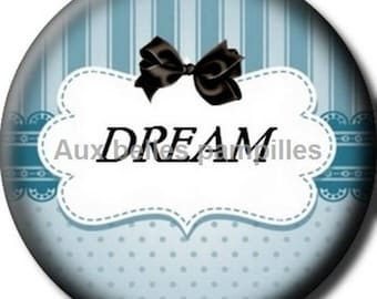 Round cabochon resin 25 mm - craft dream (1296) - text, Word