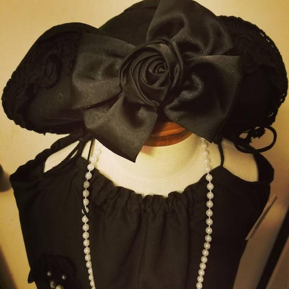 Great Gatsby, Great Gatsby Wedding, Gatsby Hat, Flapper Dress, Flapper Hat, Great Gatsby Black, Black Gatsby Hat, Black Flapper Hat, Black