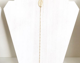 Virgin Mary 14k Gold Filled Rosary Necklace