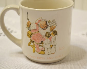 Vintage Hallmark Norman Rockwell Good Boys and Girls Collectible Mug  PanchosPorch