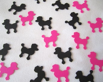 Poodle Confetti, Dog, Paris, Party Decor, Table Sprinkles, 50's Theme