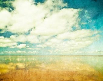 Summer clouds - Fine Art Photography Print on Metallic Paper
