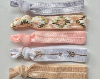 hair tie bracelets, beach bracelets, mermaid party favour, friendship bracelets, girl gift
