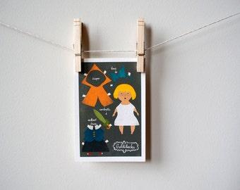 Goldilocks Postcard