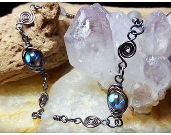 Swirly Copper Chain Bracelet