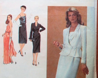 Jacket & Dress Pattern, Evening or Party Uncut 1970s Simplicity 9239, size 12