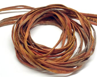 """5PC. CAJUN 2MM Hand Dyed Silk Jewelry Cord//5PC Hand Dyed Silk Cording 1/8"""" X 36""""//Hand Dyed Silk Jewelry Bracelet/Necklace Cording"""