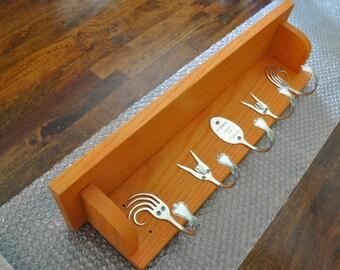 Awesome Orange Forking Shelf Recycled Silverware