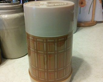 Vintage Thermos Aladdin Plaid Wide mouth 1 Pint