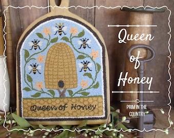 Queen of Honey Punch Needle Pattern