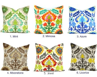 One Waverly Santa Maria Pillow Cover, 18x18, cushion, decorative pillow, throw pillow, Outdoor Pillow, Waverly Pillow