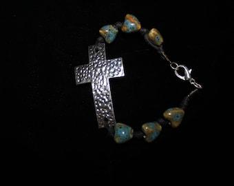 Cross & Heart Bracelet