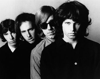 The Doors, Jim Morrison Rock Band Group Glossy B & W Music Print  7X5, 10x8 or A4 Photo