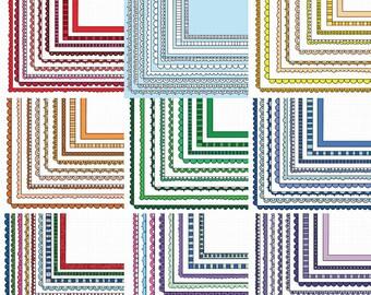 Value Bundle - Stacking Border Clip Art 324 Frame Clipart Images