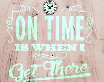 On Time SVG
