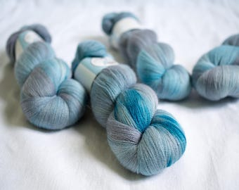 SALE - Lace yarn - Extra Fine Merino+Silk - 100 grams - 1200m/1312yards - Cloudy Sky