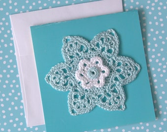 Mother's day greeting card, Crochet flower card, Greeting card, Birthday card,Free shipping