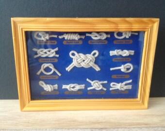 Nautical ship sailor rope knots shadow box / wall decor