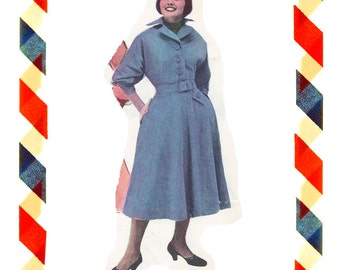 Vintage Sewing Pattern in any size including plus size 1949 PDF Instant Download Pattern no 25