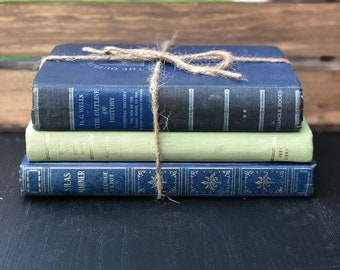 Vintage Book set of 3 (assorted colors)