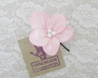 Pale Pink Flower Hair Pin. Pale Pink Flower Hair Piece. Bridesmaid Hair Accessory.