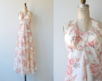Wildgrown dress | vintage 1970s maxi dress | floral print 70s dress
