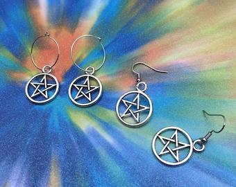 SALE Pentagram Earrings
