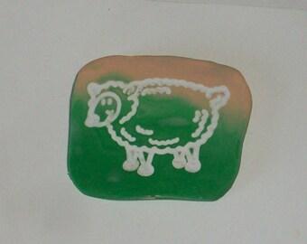 Sheep Pin, Sheep Brooch, Lamb Pin, Lamb Brooch Easter Sheep Jewelry, Sheep Jewelry, Lamb Jewelry, Barnyard animal Pin, Farm Animal Pin