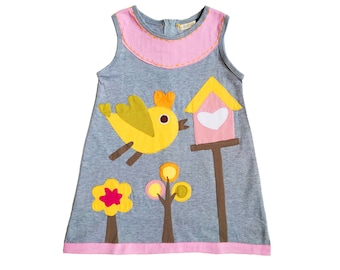Pastel Birdhouse Dress