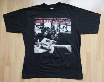 """BON JOVI  """"Crossroads"""" 1995 tour shirt size XL rare rock"""