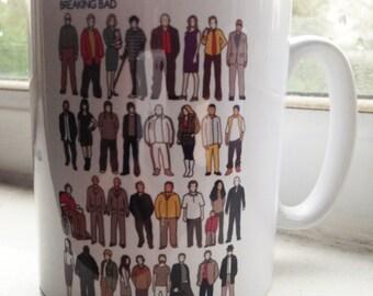 Breaking Bad cast illustration mug