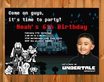 UNDERTALE BIRTHDAY INVITATION - Undertale invitation, Undertale party, Undertale birthday party, Undertale party, Printable Digital File