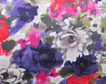 Purple and Red  Floral Scarf.